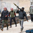 Syrian rebels. Getting arms from West? Photo: AP