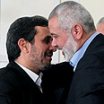 Iranian President Ahmadinejad with Hamas PM Haniyeh Photo: EPA