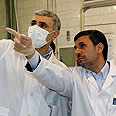 Iranian President Mahmoud Ahmadinejad at nuclear plant Photo: EPA