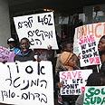 Anti-deportation protest Photo: Motti Kimchi