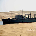 Iranian ship crossing Suez canal, 2011, illustration Photo: EPA