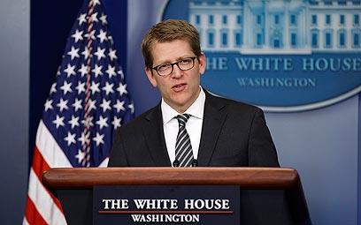 לא פוסלים אף אופציה בסוריה. דובר הבית הלבן ג'יי קרני (צילום: AP)