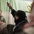 Rebel gathering near Homs Photo: AFP