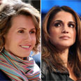 Asma Assad (L) and Queen Rania Photos: EPA, AFP