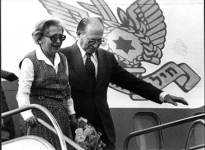 Menachem Begin and his wife Aliza. 'Begin taught us that a leader must take responsibility for his moves, both for his successes and for his failures' (Photo: Shalom Bar Tal)