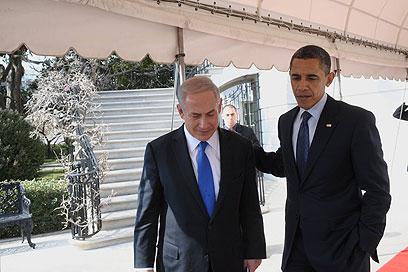 """לקראת פגישה שנייה על אדמת ישראל. נתניהו כאורחו של אובמה (ארכיון) (צילום: עמוס בן גרשום, לע""""מ)"""