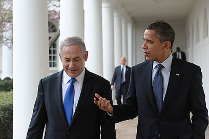 No love lost – Obama with Bibi (Photo: Amos Ben-Gershom, GPO)