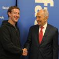 President Peres with Facebook founder Mark Zuckerberg Photo: Moshe Milner, GPO