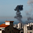 Gaza strike last month Photo: EPA