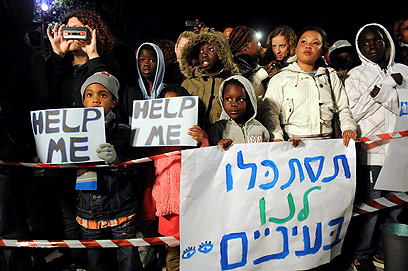 South Sudan migrants rally in Tel Aviv (Photo: Yaron Brener)