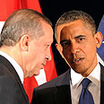 US President Obama and Turkish PM Erdogan Photo: AFP