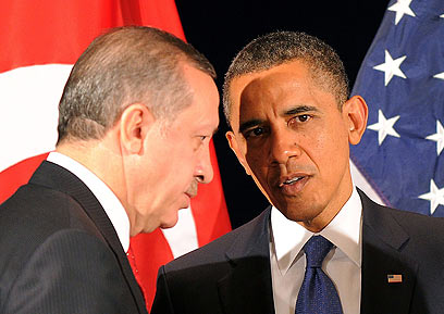 Obama with Turkey's Erdogan (Photo: AFP)