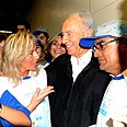 Olim from Argentina with President Peres
