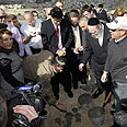 Conerstone laying ceremony in Nof Zion