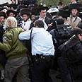 Haredim clash with police in Jerusalem (archives) Photo: Gil Yohanan