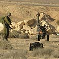Explosive device on Egyptian border Photo: IDF Spokesperson's Unit