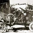 F. British machine-gun near Jerusalem hotel, 1918