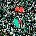 Hamas rally in Gaza, Monday Photo: Reuters