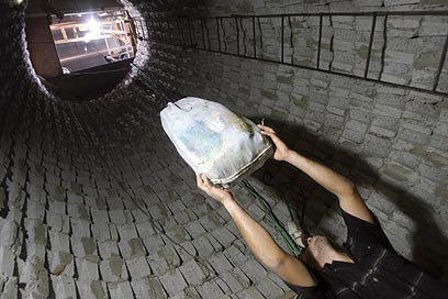 Smuggling tunnel in Rafah (Photo: AP)