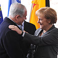 Netanyahu and Merkel Photo: GPO