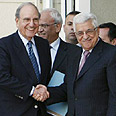 Mitchell and Abbas. Palestinian disappointment Photo: Reuters