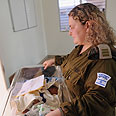 Taking care of premature babies Photo: IDF Spokesperson Unit