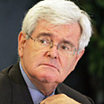 Gingrich: Israel in danger Photo: AFP
