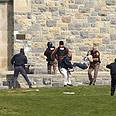 Police on scene of shooting Photo: AP