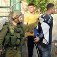Wanted Palestinians detained near Jenin Photo: AFP