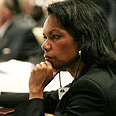 Condoleezza Rice during Iraq conference Photo: AFP