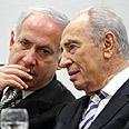 Netanyahu and Peres (Archives) Photo: Sasson Tiram