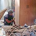 Interior of house hit by Qassam Photo: Avi Rokach
