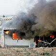Qassam hits Sderot house earlier Thursday Photo: Reuters