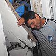 House damaged by Qassam in Sderot Photo: Haim Hornstein