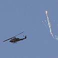 IDF helicopter over Gaza Photo: Amir Cohen