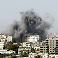 Airstrike in Gaza Photo: Reuters