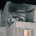 Sderot apartment hit by rocket 