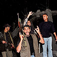 Hamas members after air strike Photo: AP