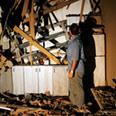 House hit by Qassam on Wednesday evening Photo: Yehuda Peretz, Reuters