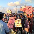 'No one cares'. Demonstration near Hadera Photo: Or Cohen