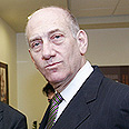 Olmert visits exhibition Photo: Dudi Vaaknin