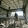 Destruction at Islamic University after Fatah raid Photo: AFP