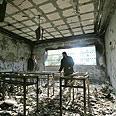 Destruction at Islamic University after Fatah raid Photo: AFP