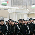 Palestinian security officers in Ramallah Photo: Reuters