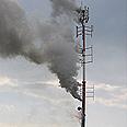 Antenna set on fire (archives) Photo: Yossi Toister