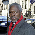 'Respect international law and human life.' Annan Photo: AP