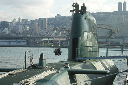 IDF submarine in Haifa (Photo: IDF Spokesman's Office)