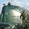 Colonel Yoni on board a Dolphin sub Photo: IDF's Sokesperson Unit