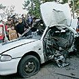Car targeted in Gaza Photo: Reuters