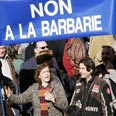 French march in protest of anti-Semitism Photo: AFP
